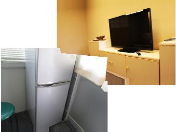 冷蔵庫、テレビボード